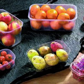 Fruitbakjes in kunststof – standaard transparant