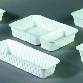 Fast food A-bakjes plastiek wit