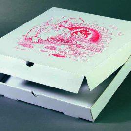 Pizzadozen – italia – wit + standaard druk